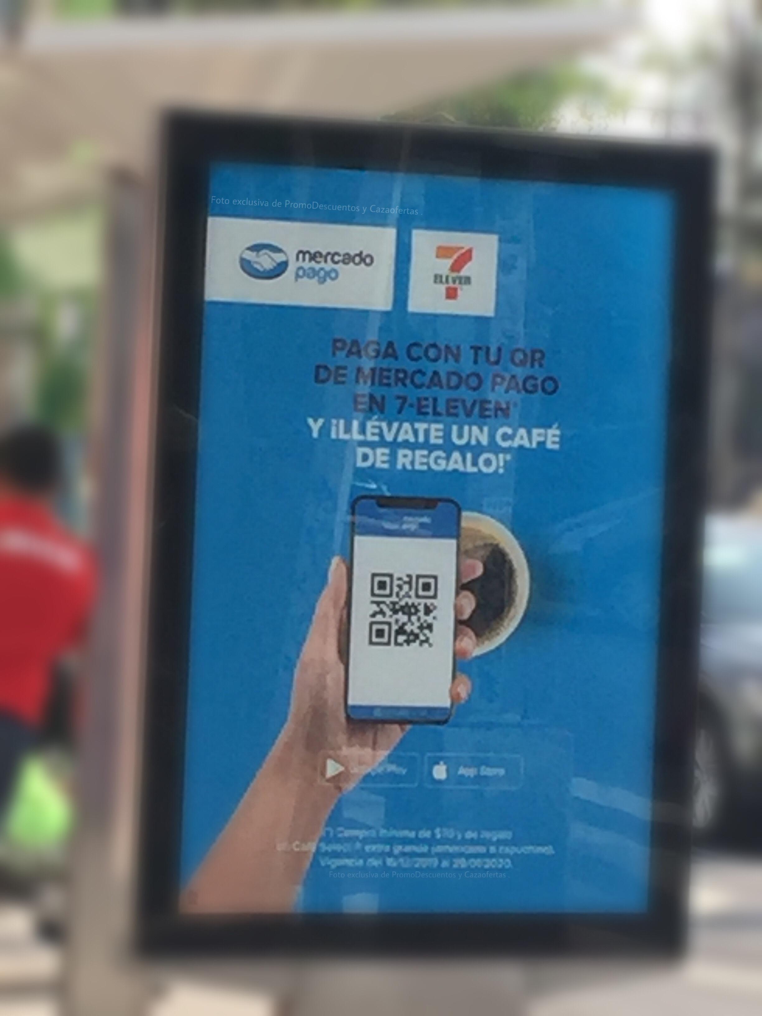 7 Eleven: Cafe GRATIS pagando con QR de Mercado Pago