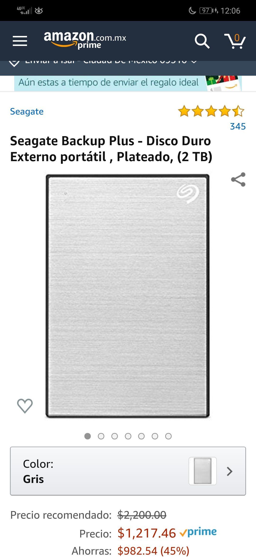 Amazon: Disco Duro 2TB portátil