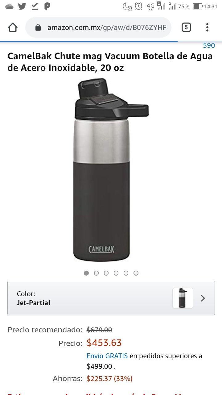Amazon: CamelBak Chute mag Vacuum Botella de Agua de Acero Inoxidable, 20 oz