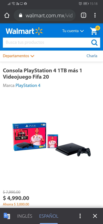 Walmart: Playstation 4 + Fifa 2020