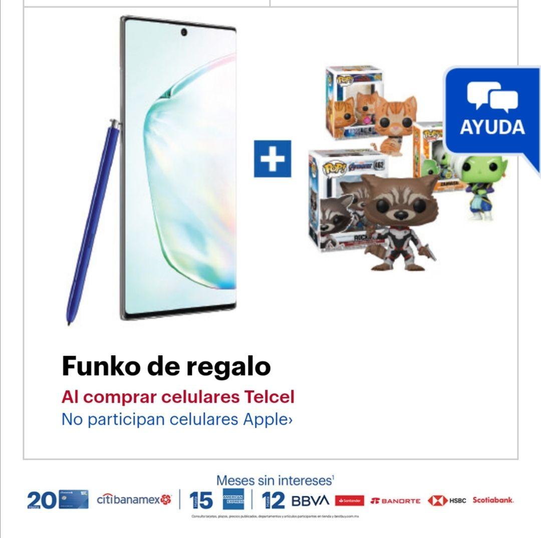 Best Buy: Funko de regalo comprando celular Telcel