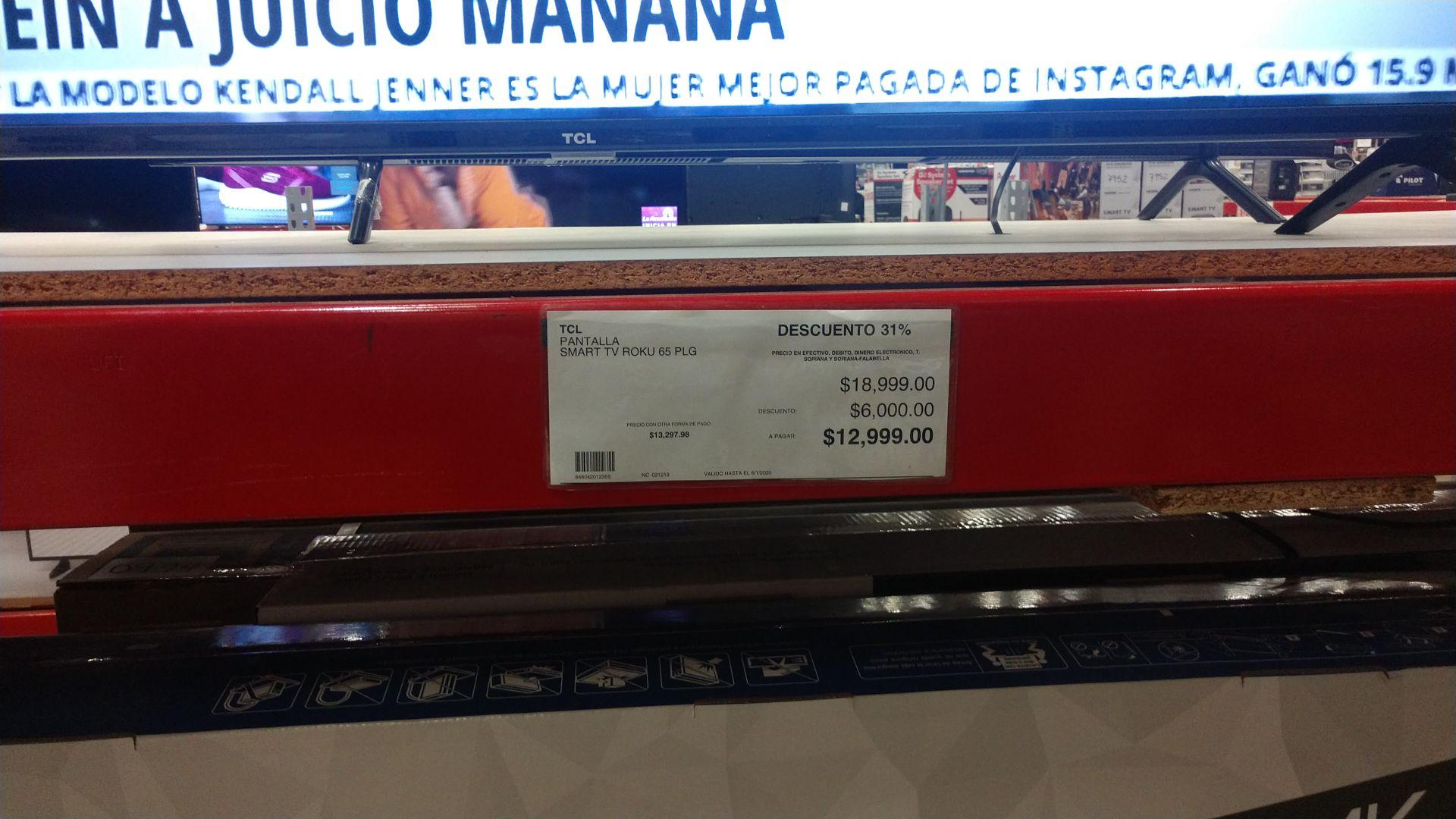 "City Club Hermosillo; Pantalla TCL 65"""