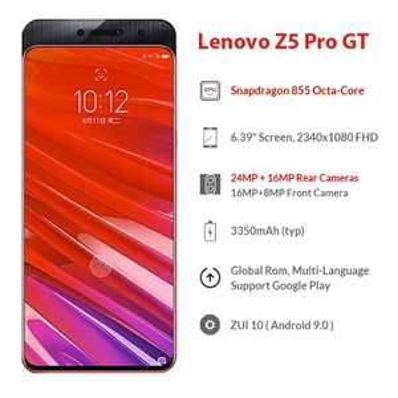 AliExpress: Lenovo Z5 Pro GT 8GB/128GB Snapdragon 855 (Envío DHL Incluído)