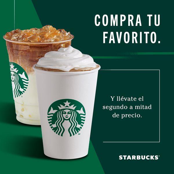 Starbucks: 2×1½ en Bebidas Base Espresso