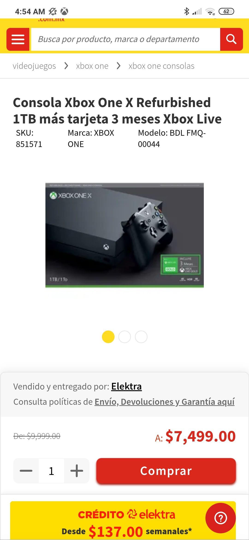 Elektra: Xbox one X reacondicionada
