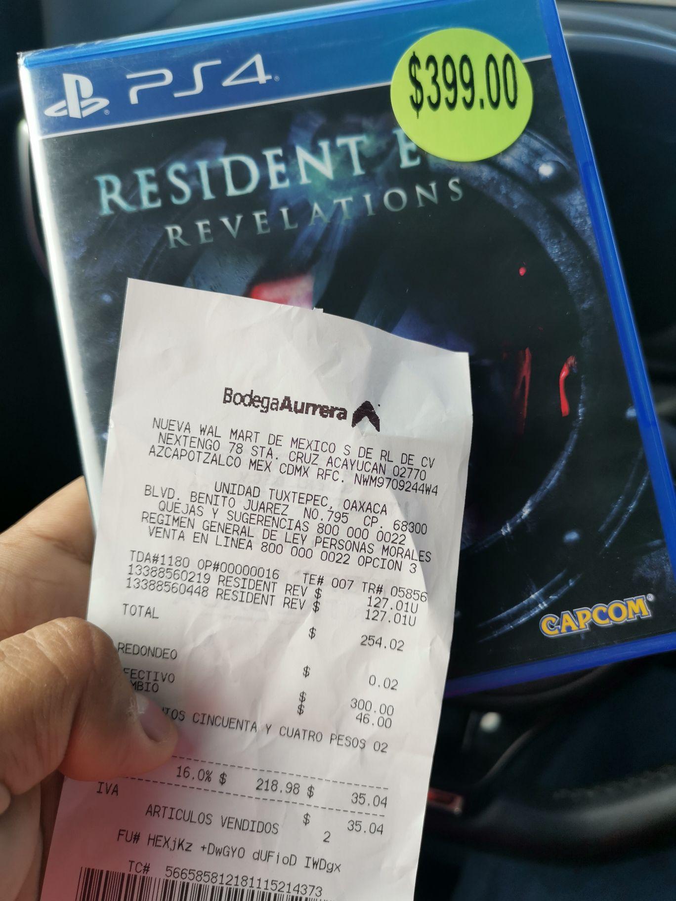 Bodega Aurrera: Resident Evil Revelations 1 PS4