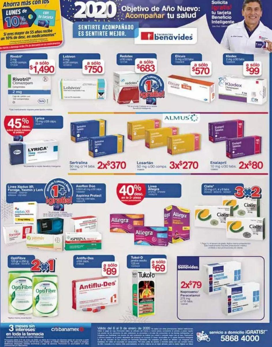 Farmacias Benavides: Ofertas del Lunes 6 al Jueves 9 de Enero