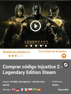 Gamivo: Injustice 2 - Legendary Edition PC Steam
