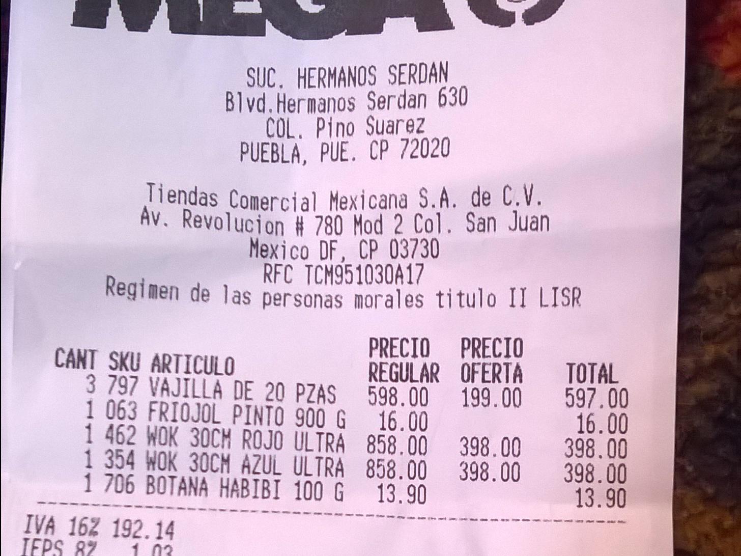 Comercial Mexicana: vajilla de 20 piezas a $199 y wok a $398
