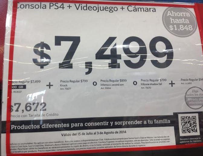 Sam's Club: PS4 con juego y cámara desde $6,024 después de bonificaciones