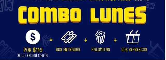 Cinépolis Combo Lunes: dos entradas, palomitas grandes y dos refrescos jumbo