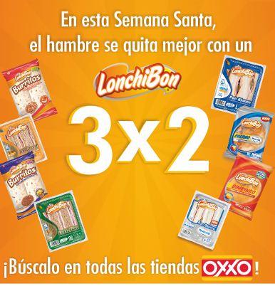 Oxxo: 3x2 en todos los Lonchibon (oferta extendida)