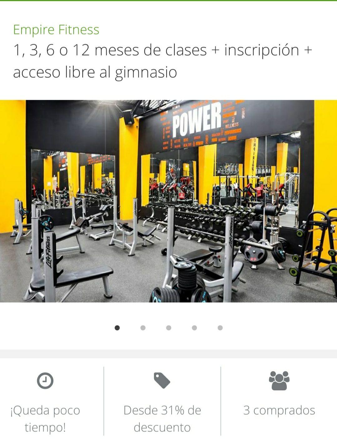 Groupon: Empire Fitness Puebla 6 meses de gym (Actualizado 13 de Enero)