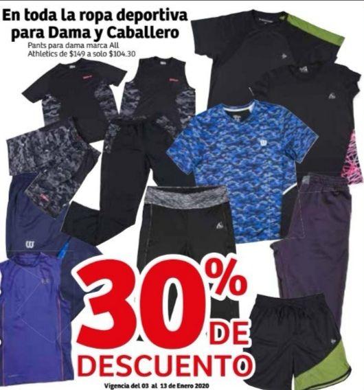Soriana Híper: 30% de descuento en toda la ropa deportiva para dama y caballero