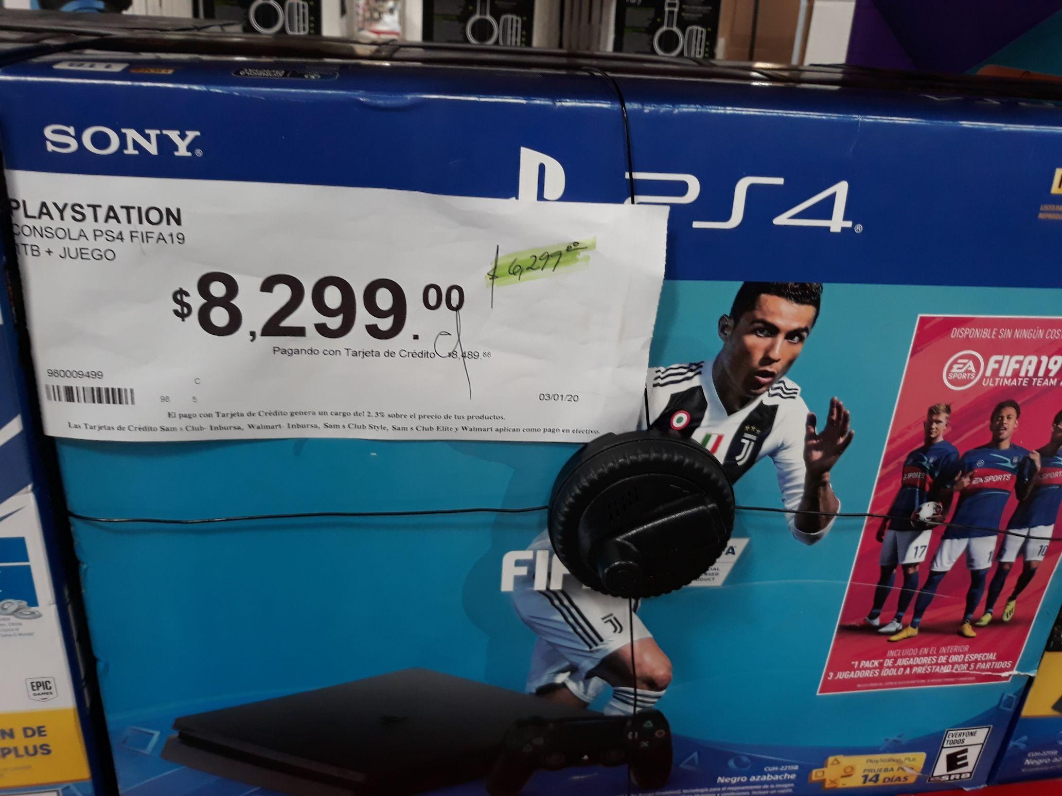 PS4 1TB + FIFA 19 SAMS CLUB MONCLOVA