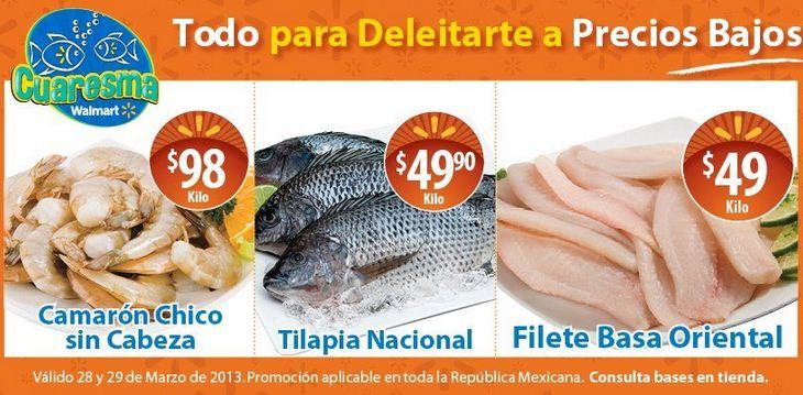 Ofertas de carnes y mariscos en Walmart y Chedraui marzo 29