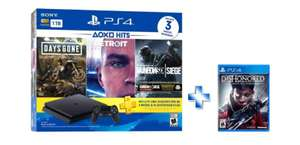 Walmart: PlayStation 4 1Tb con 3 juegos + Dishonored con CITIBANAMEX