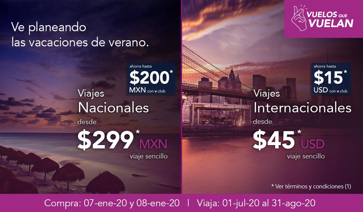 Volaris: Vuelos sencillos desde $299 comprando 7 y 8 de Eenero