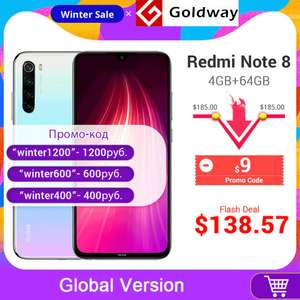 AliExpress: REDMI NOTE 8 DHL 4GB RAM GLOBAL VERSION