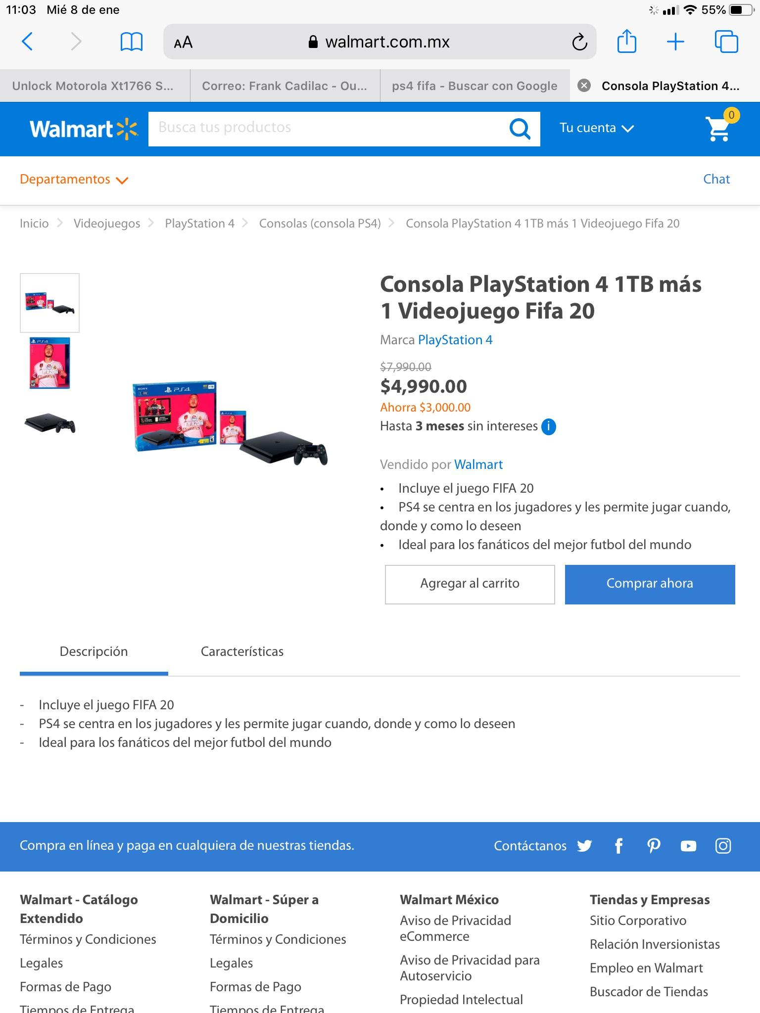 Walmart: Ps4 no es la mejor promo pero ahí está