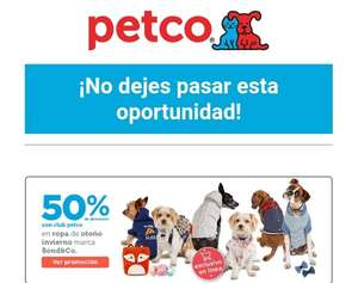 Petco - 50% de descuento compra en linea