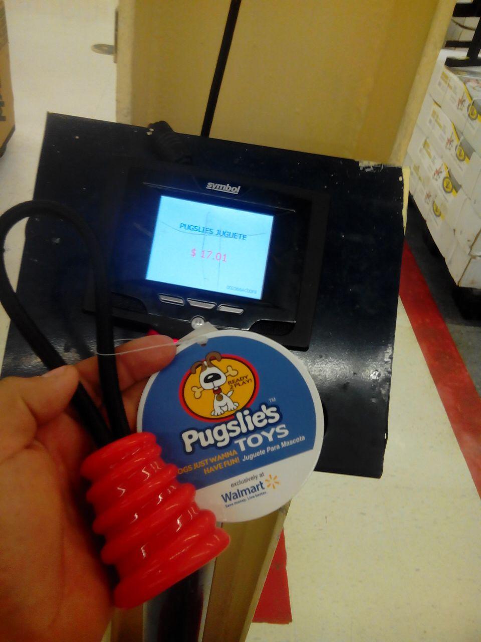 Walmart Tampico Av. Hidalgo: juguete para perro Pugslies a $17.01