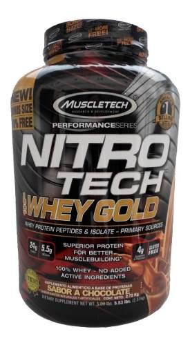 Tienda oficial Eugen World en Mercado Libre: Proteina Muscletech Nitrotech 100% Whey Gold 5.5 Lbs