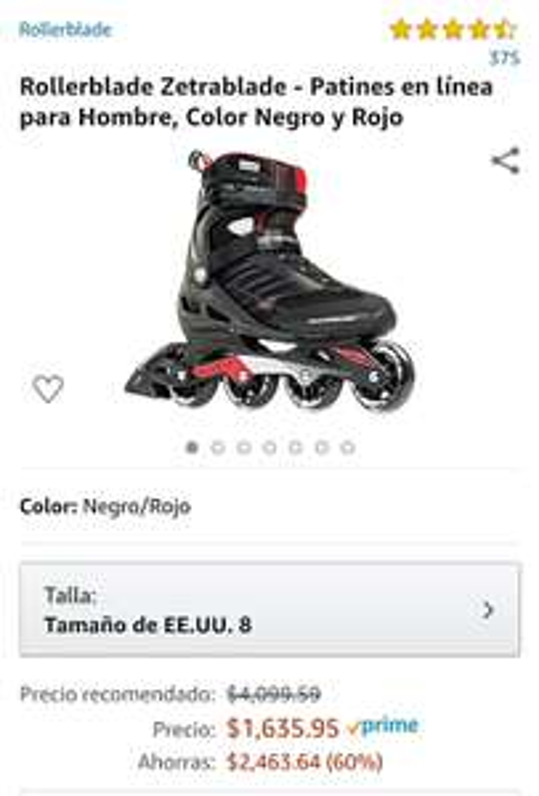 Amazon:patines rollerblade us 8 MX 26