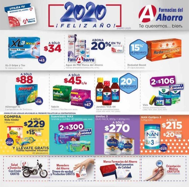 Farmacias del Ahorro: Descuentos Enero 2020