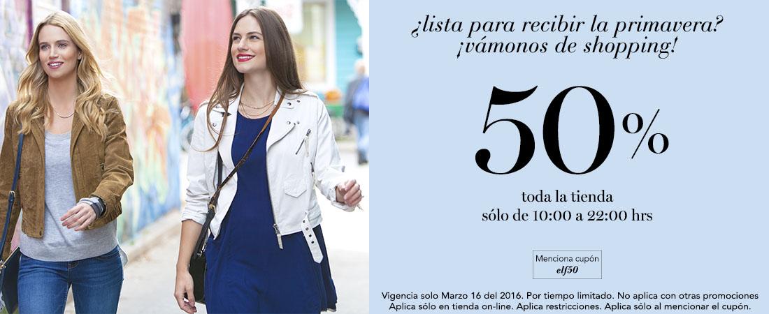e.l.f. tienda en línea: 50% de descuento en TODA la tienda solo hoy 16 de marzo