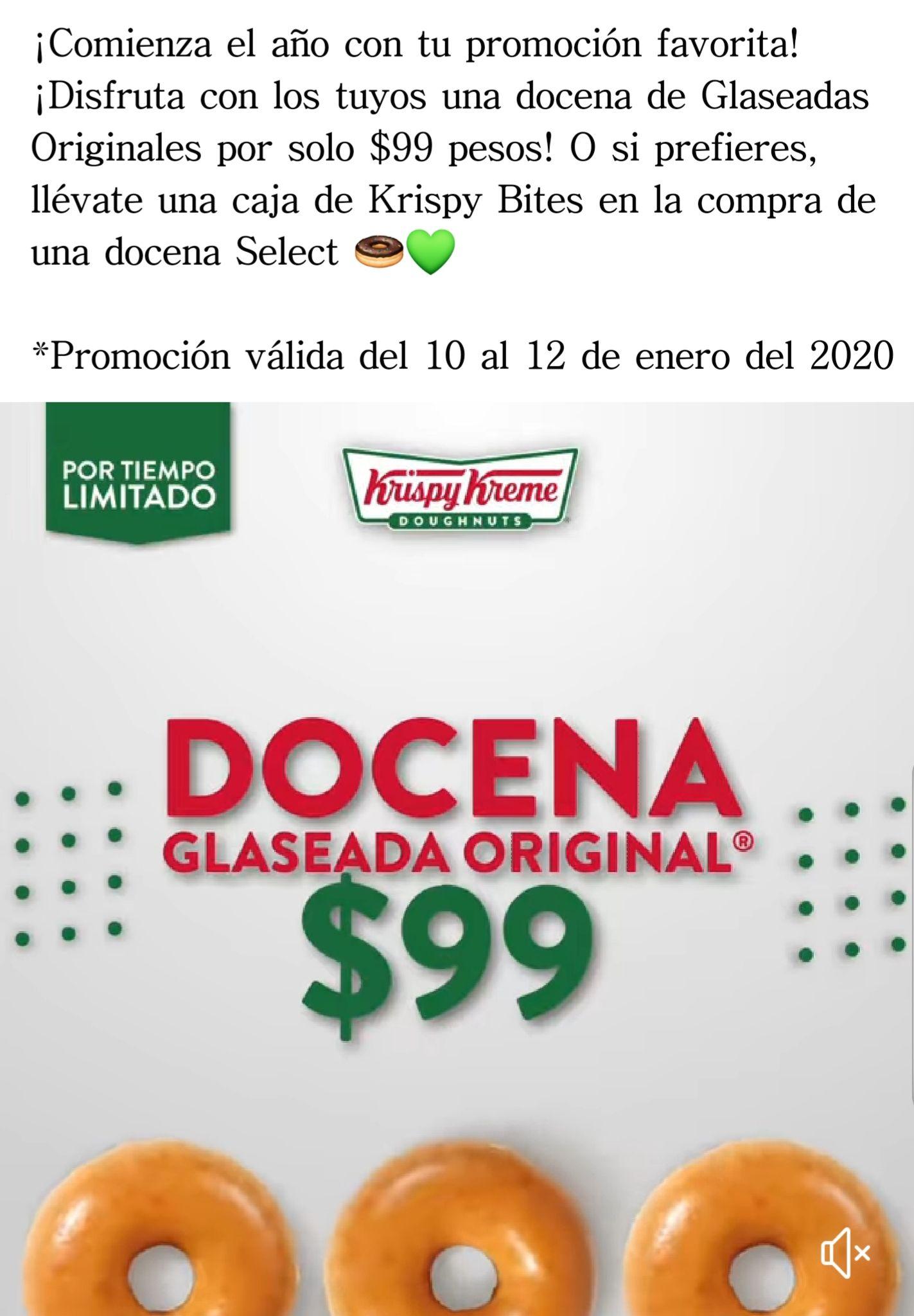 Krispy Kreme Fin de semana de donas a $99