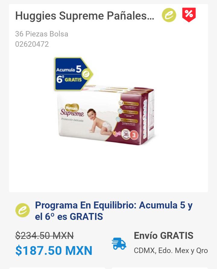 Farmacia San Pablo -20% Pañales Huggies supreme y Acumula 5 y el 6º es GRATIS