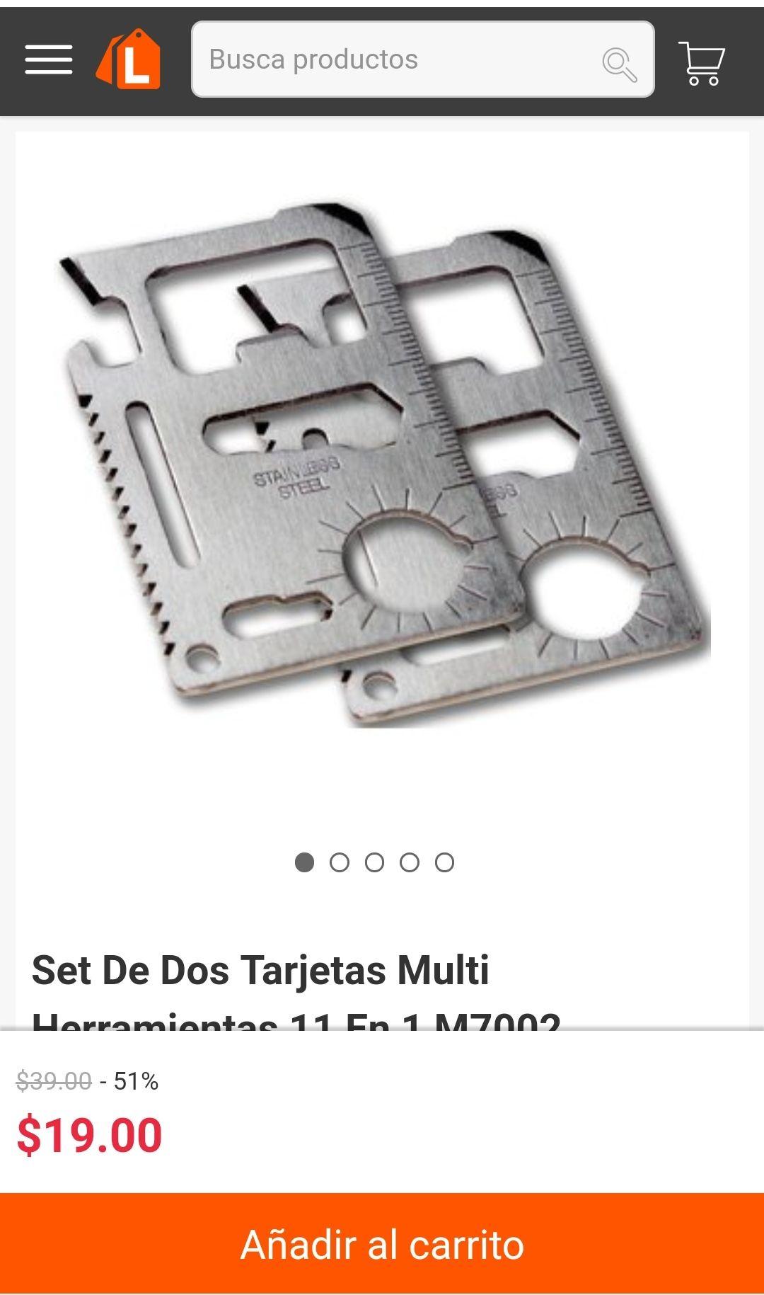 Linio Nuevamente disponible set de 2 tarjetas multi herramientas