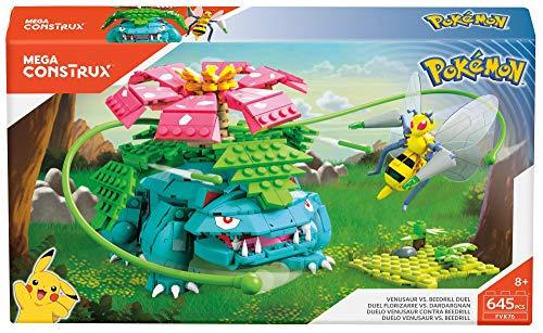 Amazon MX: Mega Construx Juego de Construcción Pokémon Venusaur vs Beedrill