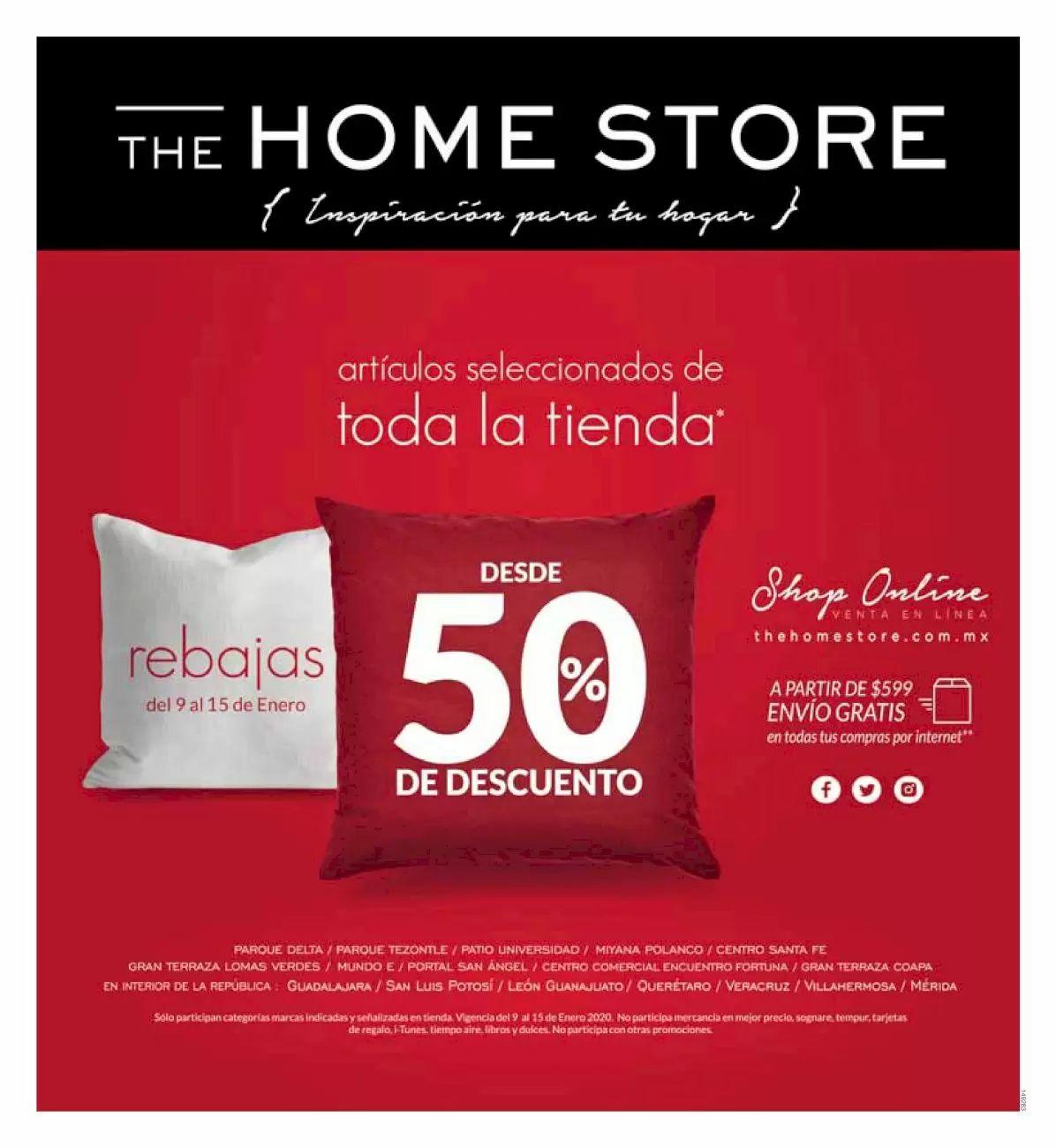 The Home Store: Rebajas desde 50% en artículos seleccionados de toda la tienda