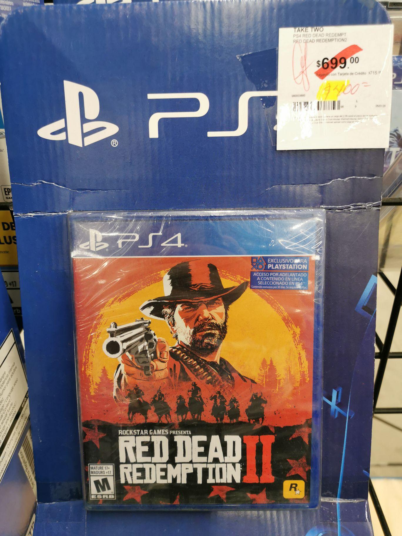 Sam's Club Carrizal Villahermosa: Red Dead Redemption 2