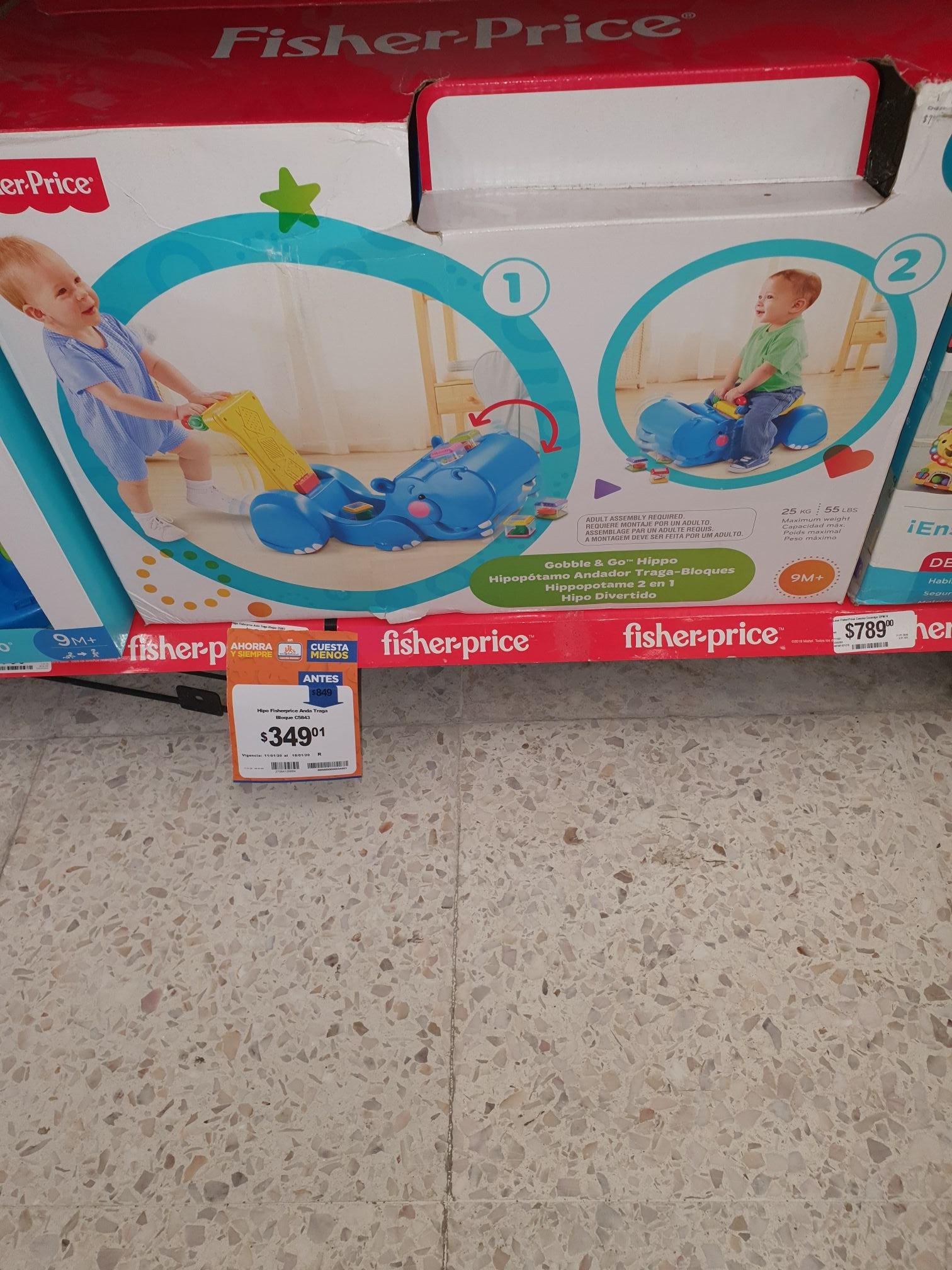 Chedraui: hipopótamo fisher price