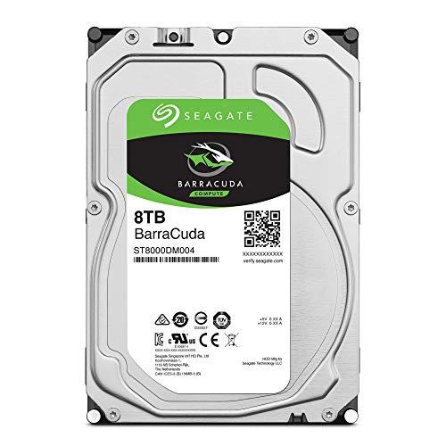 Amazon Disco duro interno Seagate 8 TB BarraCuda v11 SATA 6 Gb/s 64 MB Cache 3.5 pulgadas (ST2000DMZ08)
