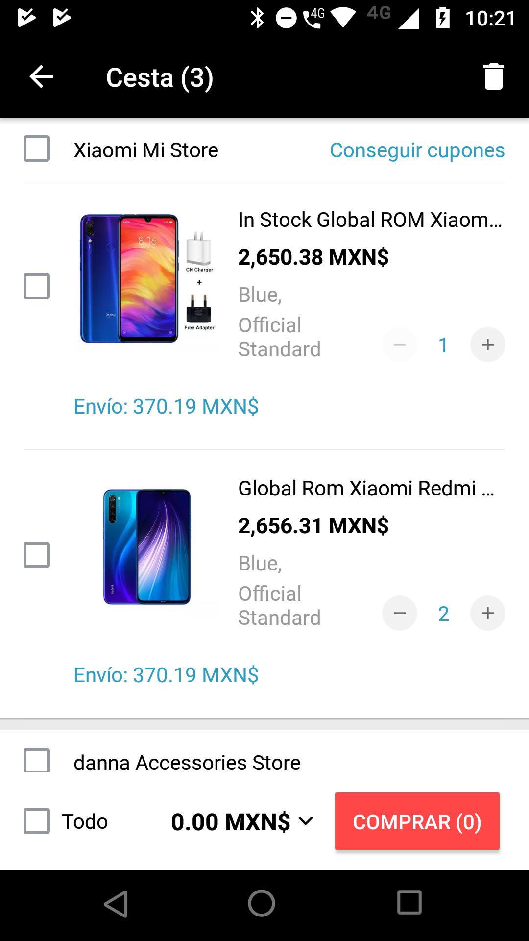 Aliexpress: Xiaomi note 8 excelente precio por DHL