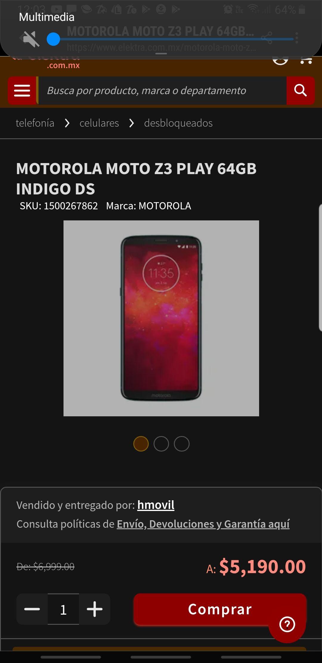 Elektra: Motorola Z3 play