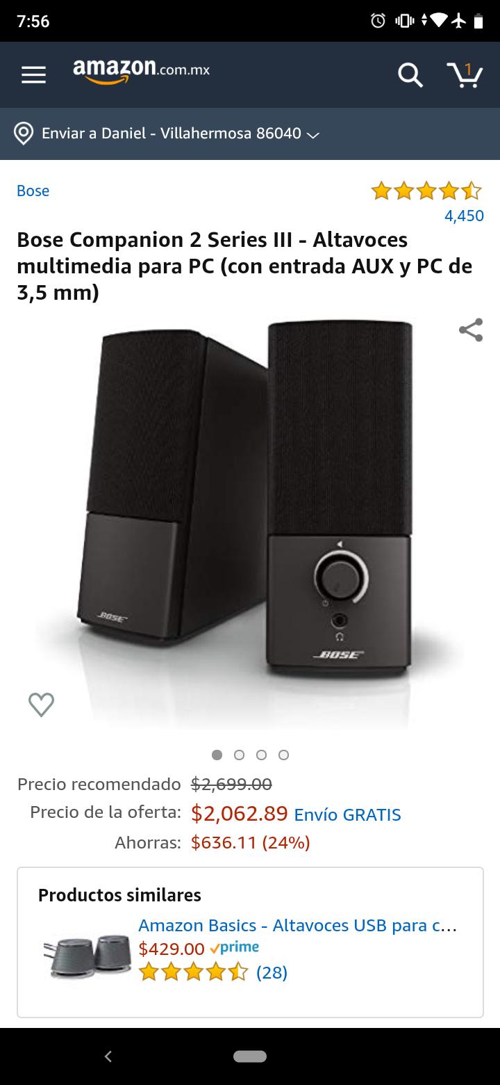 Amazon: Bose companion 2 Serie III