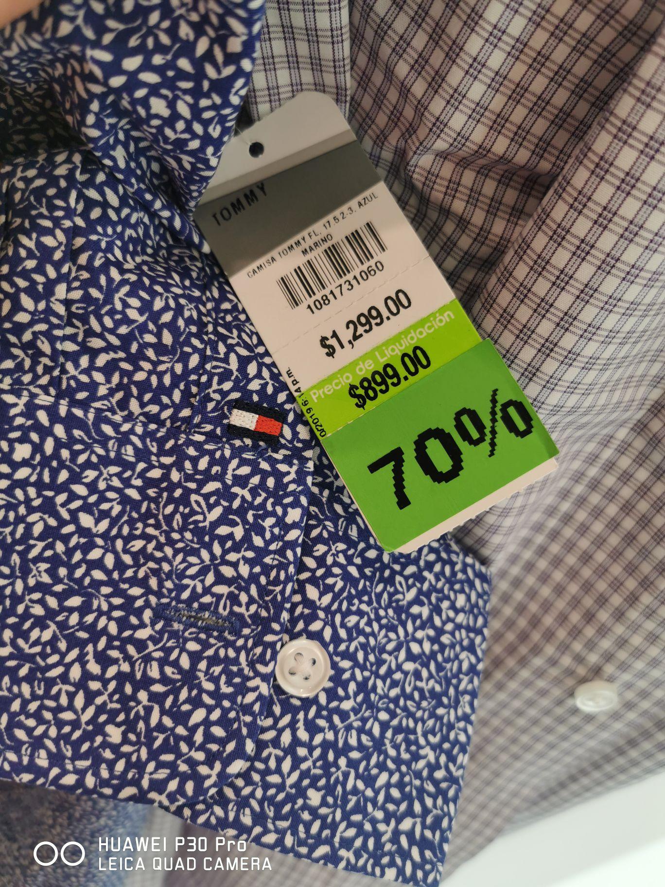 Liverpool: Camisas Tommy Hilfiger con el 30% de descuento más el 70% de descuento adicional