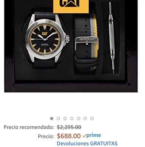 Amazon: Box set reloj Caterpillar