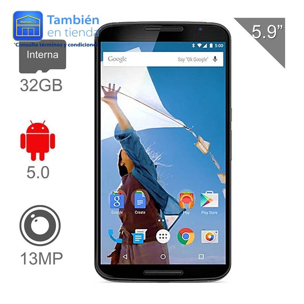 Walmart en línea: Motorola Nexus 6 32 GB Blanco 4G LTE a $5,999 ($5,499 con Bancomer)