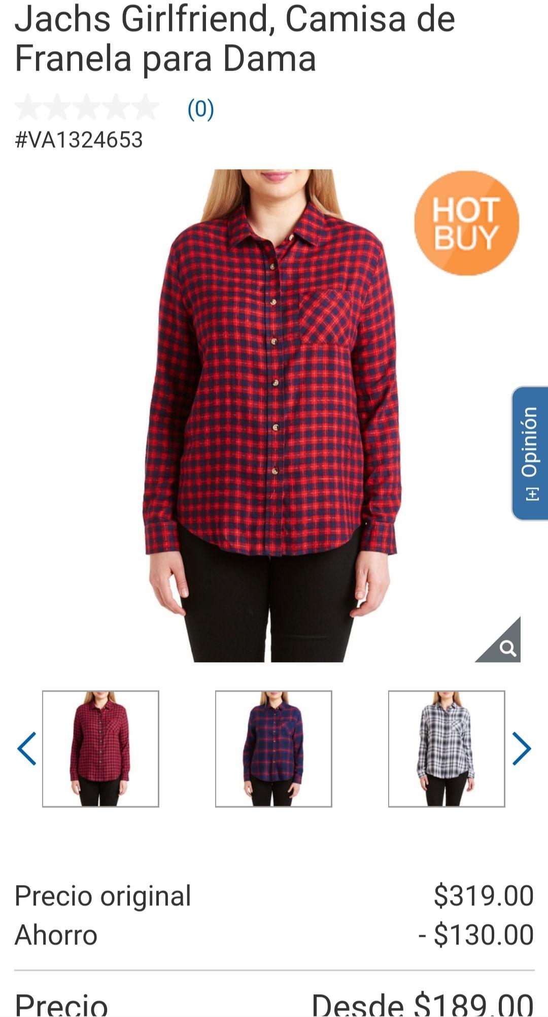 Costco - Jachs Girlfriend, Camisa de Franela para Dama