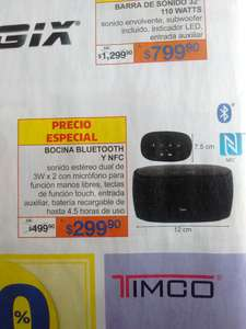 Woolworth: Bocina bluetooth y NFC a $299.90