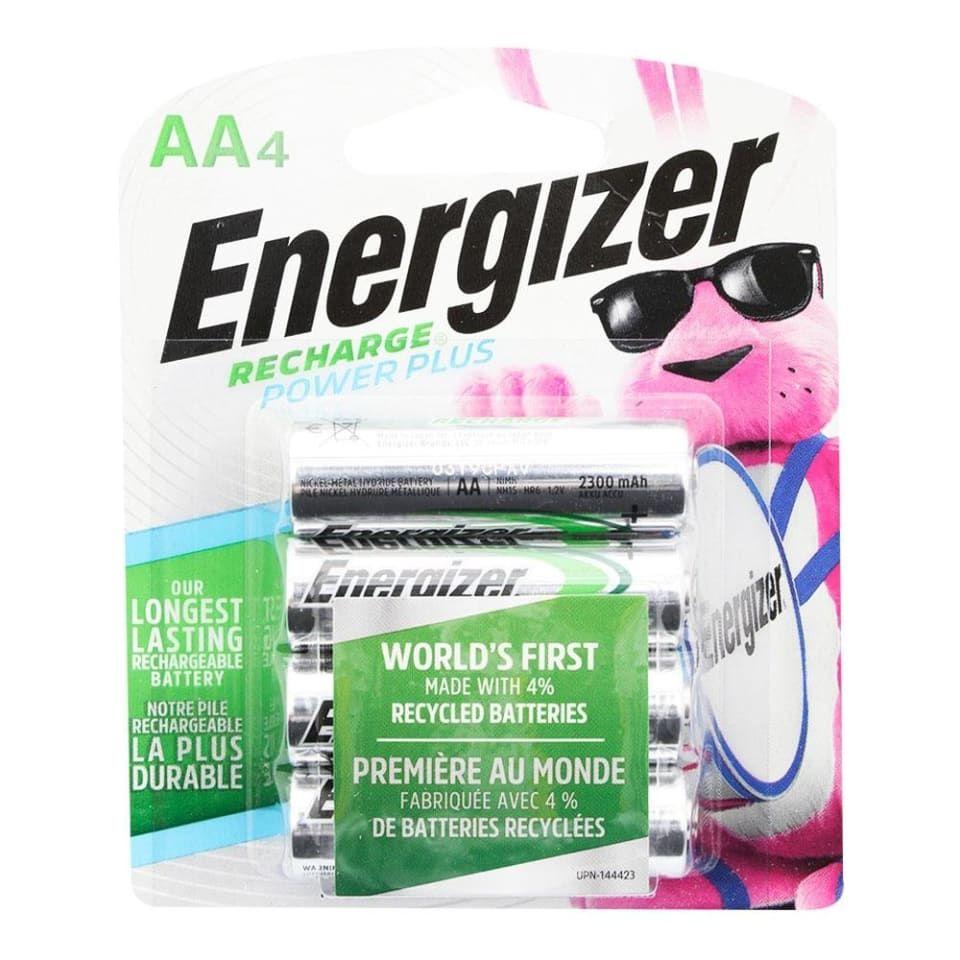 Walmart: pilas recargables AA Energizer 4 piezas
