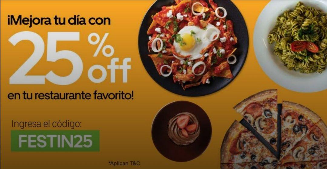Uber Eats: 25% Descuento en Cualquier Restaurante