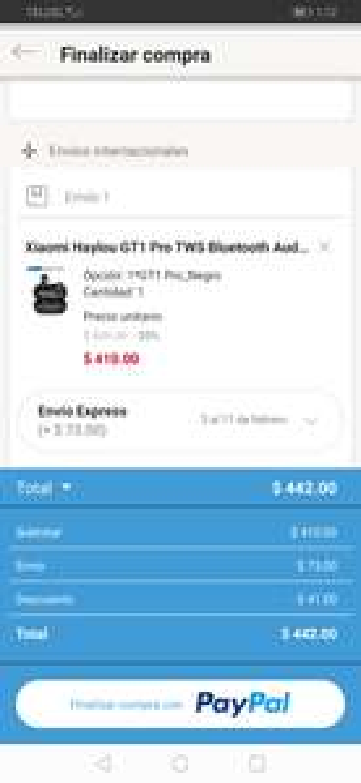 Linio: Audífonos Bluetooth Xiaomi Haylou (pagando con PayPal)