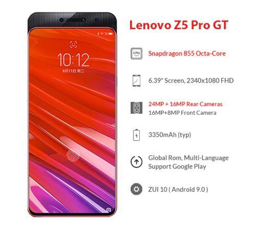 Aliexpress: Global ROM Lenovo Z5 Pro GT Snapdragon 855 8 /256GB Con audifonos y Envio DHL